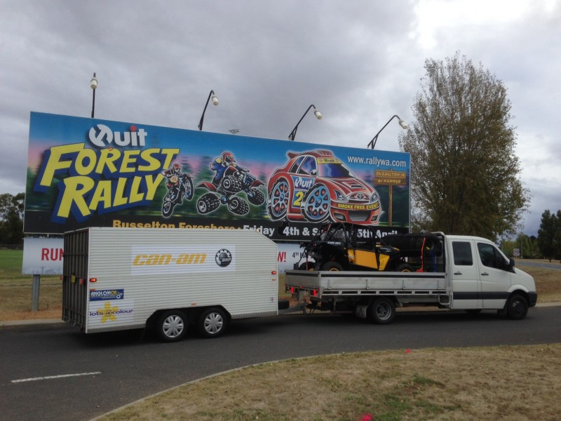 Anglomoil SXS team arrives in WA for the Quit Forest Rally.