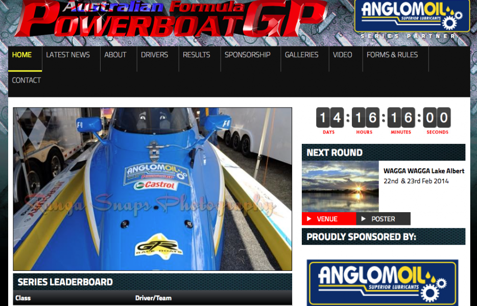 Anglomoil is a major supporter of power boat racing in Australia