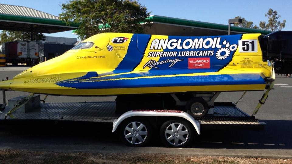 The Anglomoil Formula One Powerboat