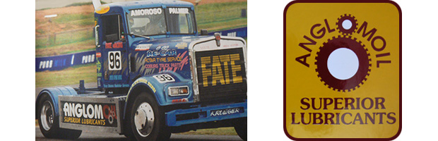 Truck and old Anglomoil logo